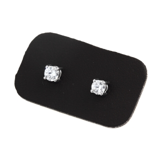 0,50 Ct Natural Diamonds Stud Earrings 18Kt. Gold