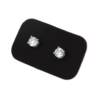 0,66 Ct Natural Diamonds Stud Earrings 18Kt. Gold