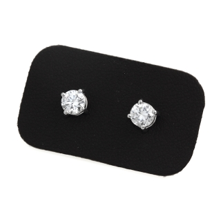 0,80 Ct Natural Diamonds Stud Earrings 18Kt. Gold
