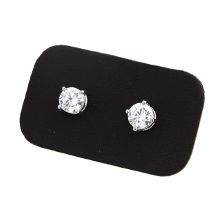 1,00 Ct Natural Diamonds Stud Earrings 18Kt. Gold