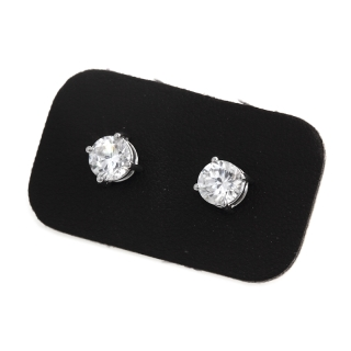 1,30 Ct Natural Diamonds Stud Earrings 18Kt. Gold