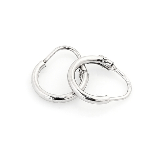 18 Kt White Gold Earrings ( Diameter 1 Cm )