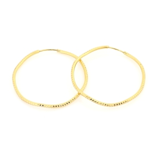 18 Kt Gold Earrings ( Diameter 3,8 Cm )