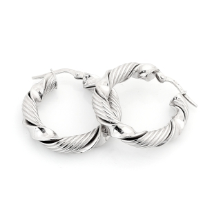 18 Kt White Gold Earrings ( Diameter 2,5 Cm )